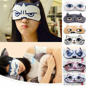 New 1pc girl cute cartoon sleeping eye mask travel comfort blindfold