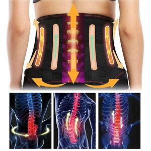 11d55649b0f Unisex Back Brace Support Belt Lower Back Pain Relief Fr Herniated ...