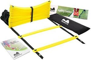 20 Rungs Speed Agility Ladder Soccer Football Fitness Feet Training Exercise 32/'