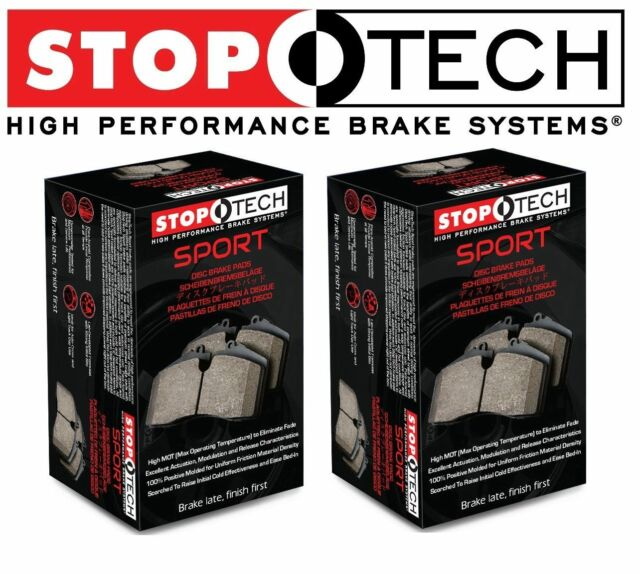 For Front & Rear Sport Brake Pads KIT Set StopTech For
