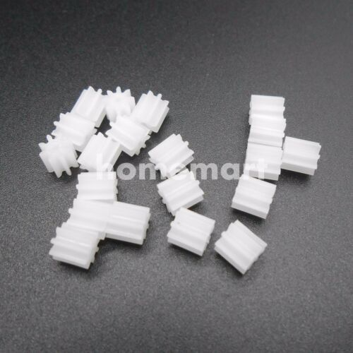 20PCS 0.5M 8T Plastic Spur Gear 0.5 Modulus T=8 Aperture 2mm 1.95MM DIY 8 Teeth