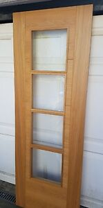 Iseo 4 Light Bevel Glazed Pre-Finished Oak Internal Door 2040 x 726 x 40mm