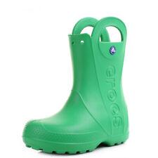 9f393eb8f457d item 3 Kids Girls Boys Crocs Handle It Grass Green Wellies Wellington Boots  UK Size -Kids Girls Boys Crocs Handle It Grass Green Wellies Wellington  Boots UK ...