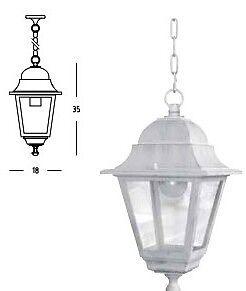 Lanterne Bianche Da Esterno.Lanterna Lanterne Per Esterni Bianca Bianche Con Catena Sospesa