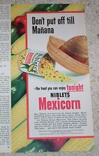 1951 ad page - Jolly Green Giant Niblets canned Mexicorn corn vegetables ADVERT