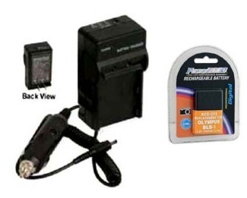 Battery + Charger for Olympus BLS-1 BLS1 BLS-01 BLS01