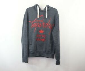 Superdry-International-Mens-Medium-Camouflage-Spell-Out-Hoodie-Sweatshirt-Gray