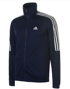 Adidas-Tiro-Poly-Trainingsanzug-Jacke-Full-Zip-Herren-Groesse-UK-36-38-navy-weiss-ref104