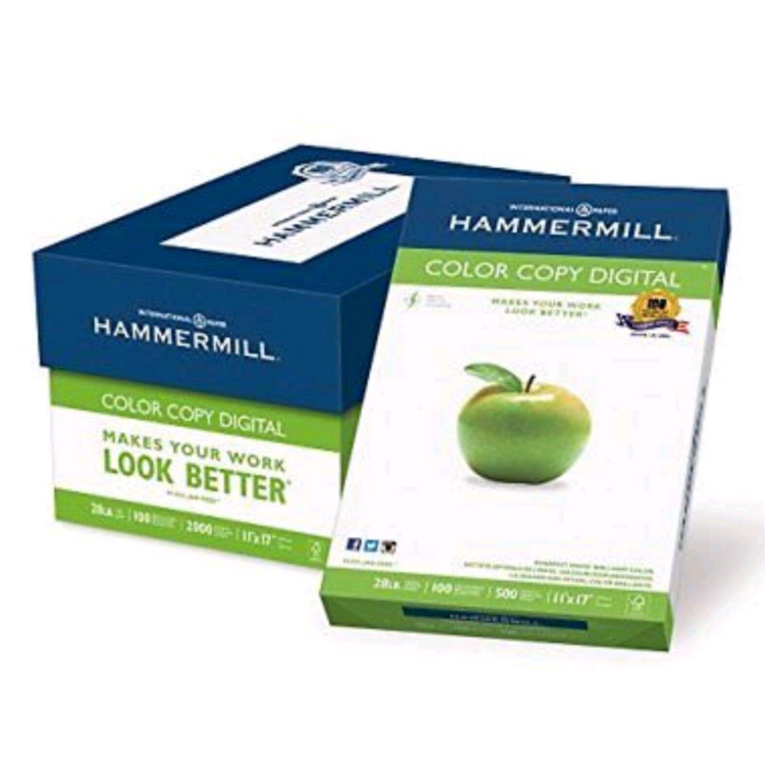 Hammermill Paper, color Copy Digital, 28x 17, Ledger, 100 Briht 2000 Sheet