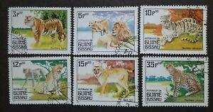 Guine-Bissau-1984-Wild-Cats-6v-Used