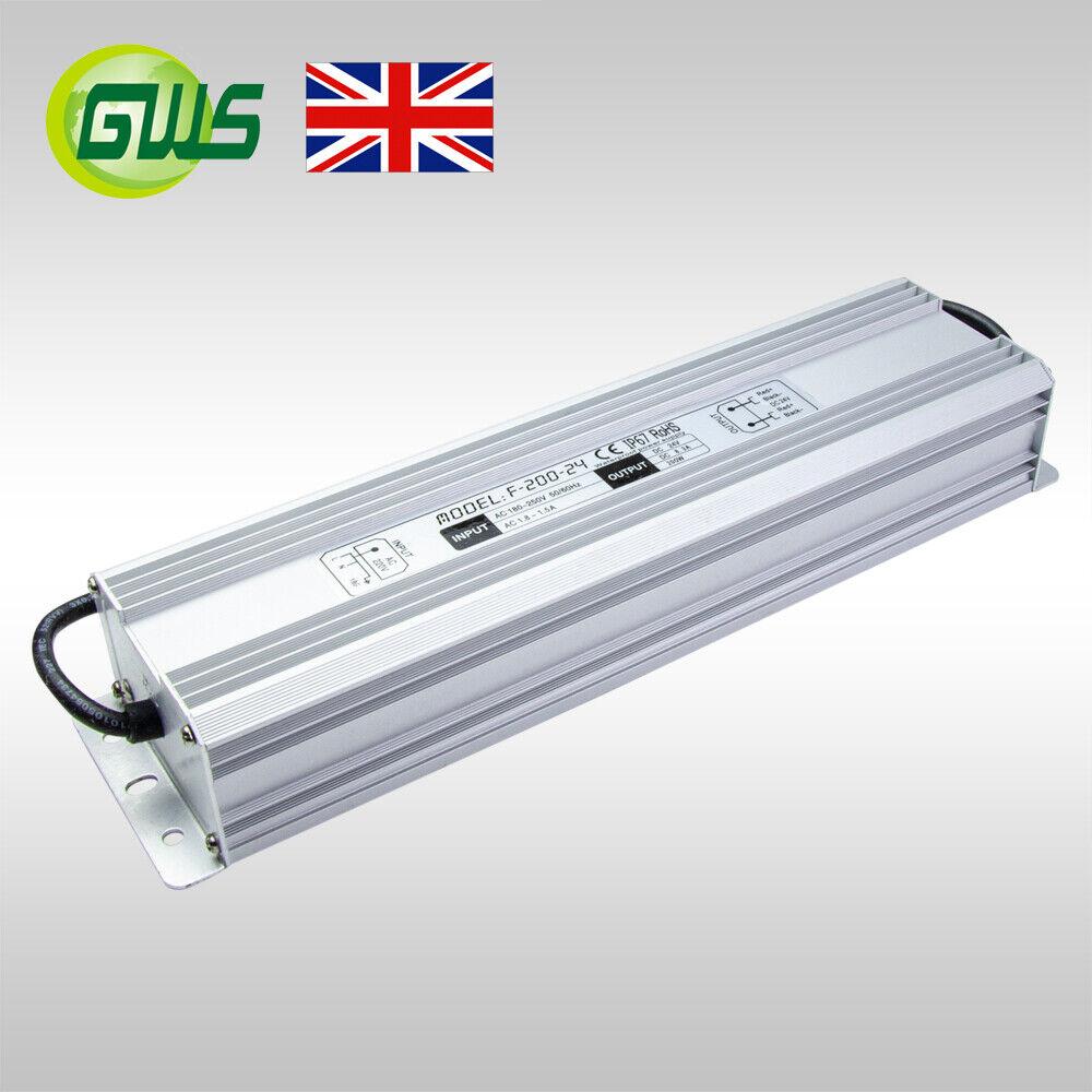 IP67 Waterproof 24V LED Strip Light Transformer/Power Adaptor/Driver 80W-300W