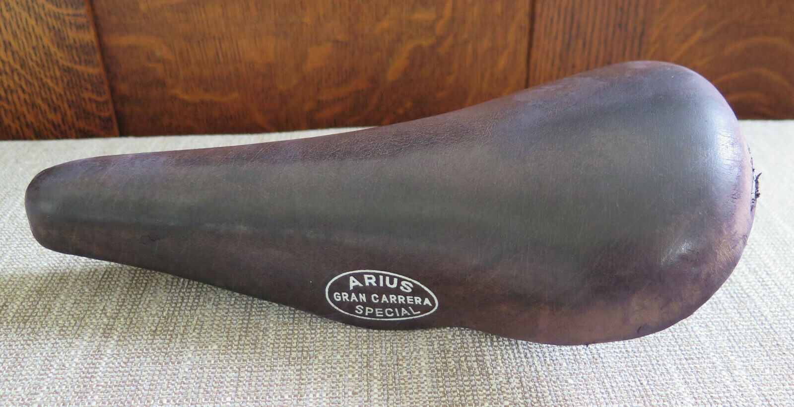 Vintage Arius Gran Carrera Special Brown Leather Bicycle Seat  Saddle Spain  cheaper prices