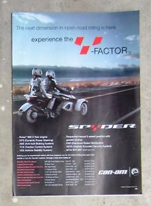 BRP-CAN-AM-SPYDER-Roadster-Trike-Motorcycle-Magazine-Page-Advertisement-Brochure