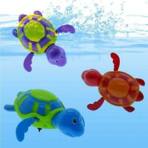 Cute Wind-up Swimming Tortoise Turtle Pool Toys For Baby Kids Bath Time O2P4