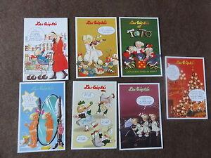 7-cartes-postales-les-triples-de-Nicole-Lambert-ed-clouet-1999-rare