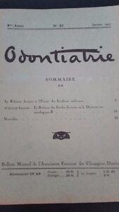 Rivista-Mensile-Odontiatrie-N-31-4-Eme-Anni-1927-Moto