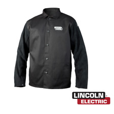 Lincoln Electric K3106 M Traditional Split Leather Sleeved Welding Jacket Medium