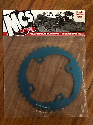MCS 104 4 BOLT CHAINRING GEAR BMX 39T RED MADE IN THE USA