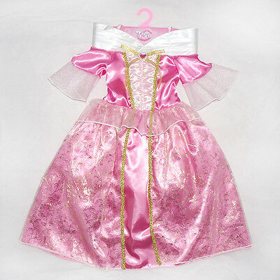 Kids Sleeping Beauty Costume Fancy Dress Girls Princess Outfit Ages 2/3/4/5/6/7