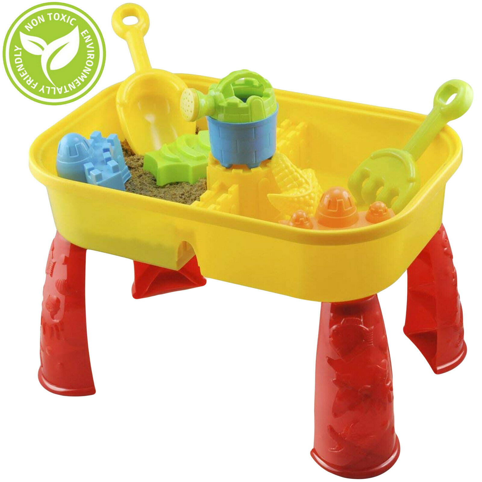 Sand and Water Table Garden Sandpit Play Set Toy Watering Can Spade Sand Bucket £15.99 @ eBay