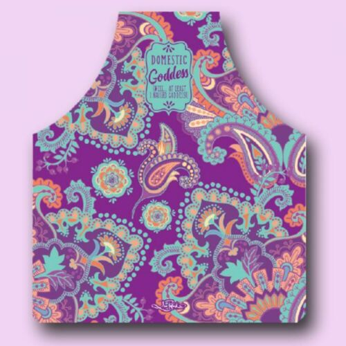 Hostess with the Mostess Domestic Goddess Polyester Apron by Lisa Pollock