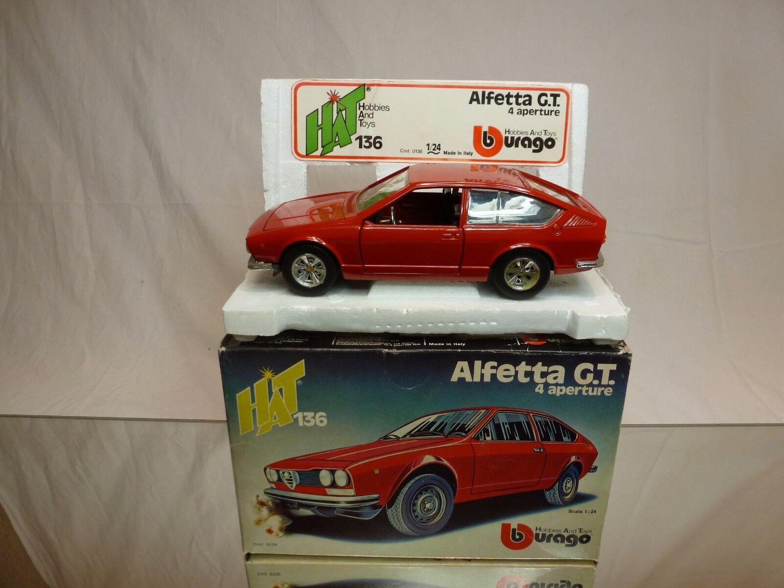 BBURAGO 0136 ALFA ROMEO ALFETTA GT - RED 1:24 VERY RARE - VERY GOOD IN BOX