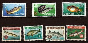 ALBANIA-Los-peces-de-la-mer-serie-completo-1005-1011-E15