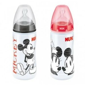 Nuk FIRST CHOICE DISNEY + botella de bebé (300ml) 6-18 mes Negro/Rojo  </span>