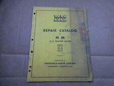 Minneapolis Moline Mo 105 106 107 Tractor Mower Parts Book Manual R235 1952