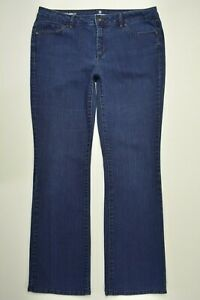 LIZ-CLAIBORNE-Size-12-Women-CLASSIC-FIT-Bootcut-Leg-DARK-Wash-STRETCH-Blue-Jeans
