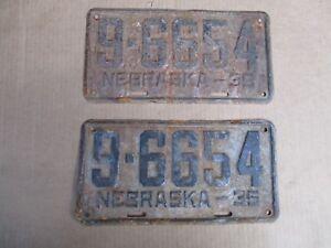 1935-NEBRASKA-LICENSE-PLATES-PLATE-ORIGINAL-FORD-CHEVY-GMC-35-HOT-STREET-ROD-35