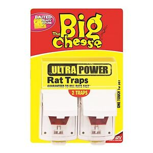 Details about The Big Cheese Ultra Power RAT TRAPS Guaranteed to Kill Rats  Fast - 2 Pack