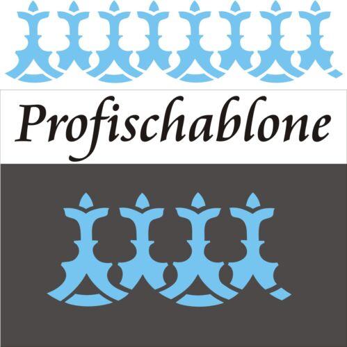 Schablone Dekorschablone Wandschablone Tupfschablone Stencil Wandfries Spätgotik