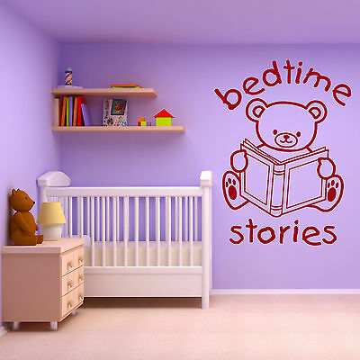 Read Me A Bedtime Story Nursery and Children/'s Bedroom Wall Art Print