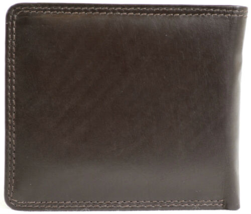 Hommes Portefeuille en cuir souple avec plusieurs emplacements cartes et compartiments ouverts note