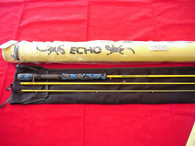 Echo GECKO Youth Fly asta 7ft 9in  45 Line 4 Piiece GREAT nuovo