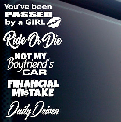 5 GIRL LADY JDM CAR STICKERS DECAL PACK VINYL LOT TUNER EURO BOOST LOW