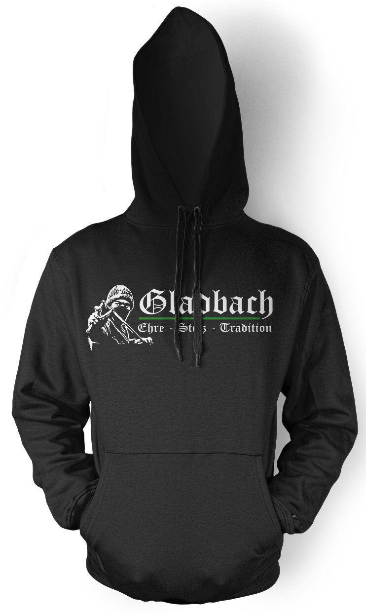 Gladbach Ehre & Stolz Herren Kapuzenpullover   Fussball Ultras Fan   M1