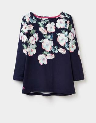 Ladies JOULES Navy Poppy HARBOUR PRINT 3/4 Sleeve Top (X) Size 20
