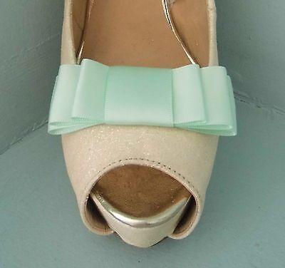 2 clips de arco triple verde menta para Zapatos-otros colores a petición