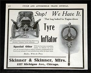 1907-OLD-MAGAZINE-PRINT-AD-SKINNER-ROTARY-TRIPLEX-CAR-TYRE-INFLATOR-OLDSMOBILE