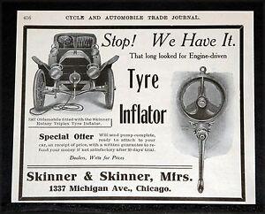 1907-OLD-MAGAZINE-PRINT-AD-SKINNER-ROTARY-TRIPLEX-CAR-TYRE-INFLATOR-OLDSMOBILE