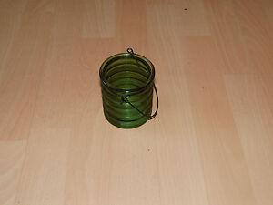 Windlicht-Teelicht-Laterne-haengend-Glas-gruen-auch-als-Blumenvase-geeignet-NEU