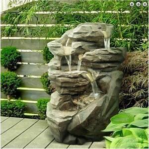 Fontaine Exterieur Zen fontaine xl cascade rocher 71 cm intérieur et extérieur - la vie en