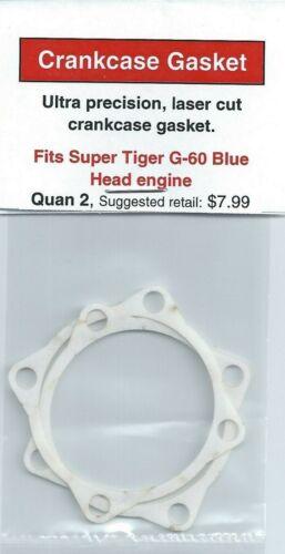 Super Tiger Tigre G-60 Blue Head Crankcase Gasket 2 Pack NIP