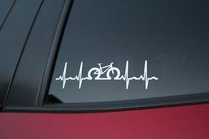 buy 2 get 1 free! Road Bike heartbeat die-cut car window sticker