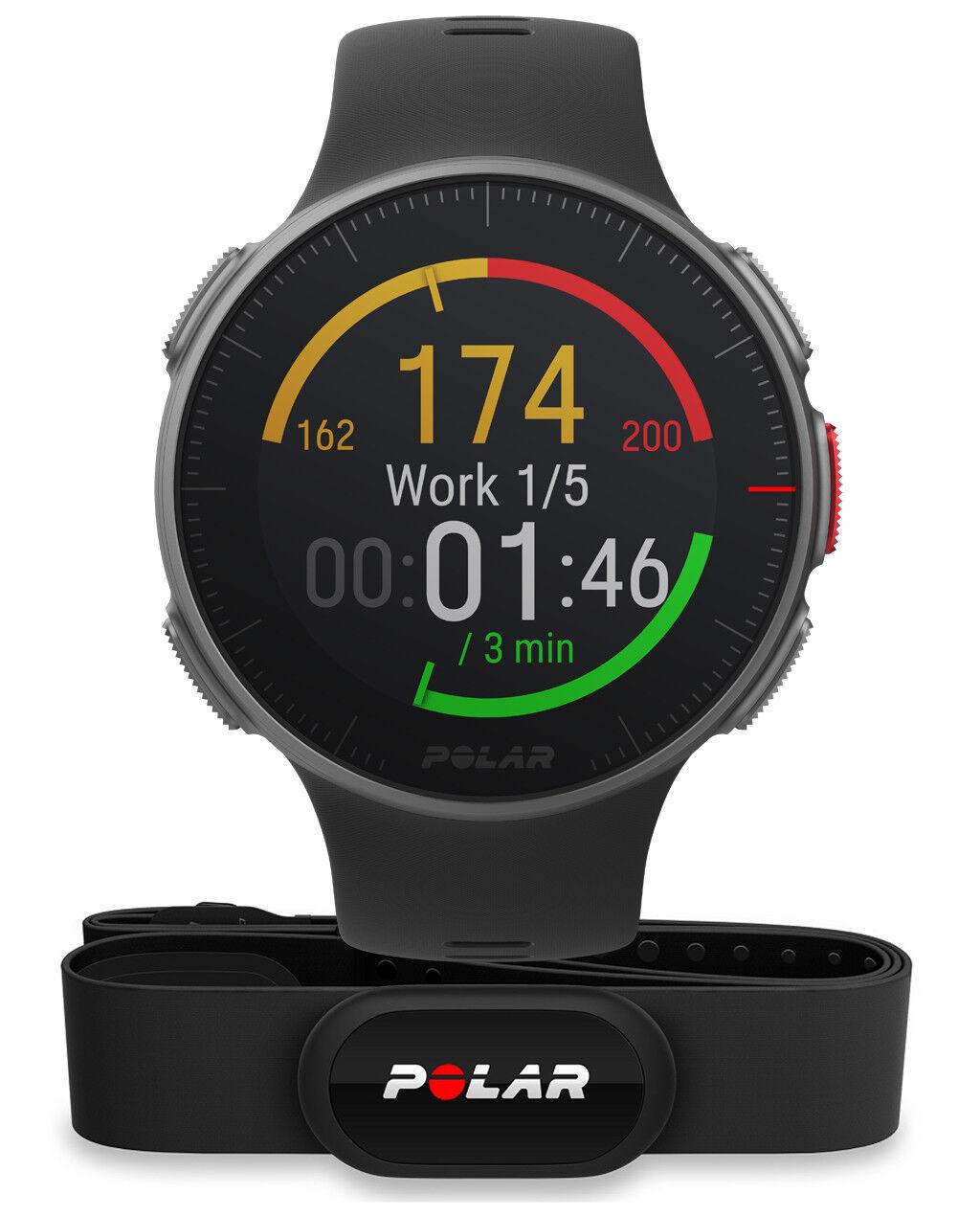 Polar Vantage V HR -GPS Profi Multisportuhr Smartwatch Pulsuhr H10 - black M L