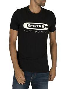 G-Star-Men-039-s-Graphic-Slim-T-Shirt-Black