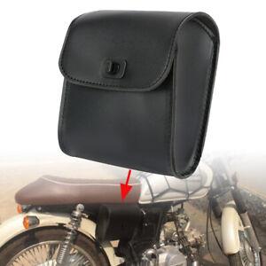 Motorrad-Bike-Side-Werkzeugtasche-Schwarz-Gepaecksatteltaschen-Schnellverschluss