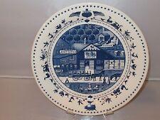 Nikko Charles Wysock AMERICANA Blue/White Dinner Plate - EUC